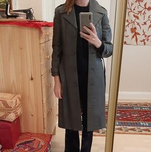 Vintage '70s Belted Grey Long Trench Coat XS